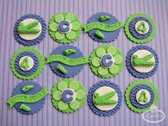 Crocodile cupcake toppers