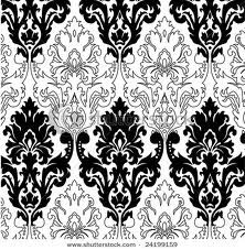 solid and outlined damask
