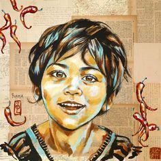 Stéphanie Ledoux - Carnets de voyage: Sur un marché birman