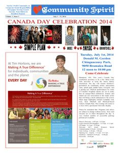 Congrats to Community Spirit!  A great non-profit community newspaper from Canada.