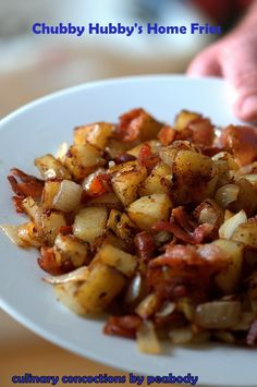 Chubby Hubby's Home Fries. I like this cooking technique. ♥ Culinary Concoctions by Peabody