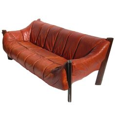 Brazilian Leather Sofa by Percival Lafer | From a unique collection of antique and modern sofas at https://www.1stdibs.com/furniture/seating/sofas/