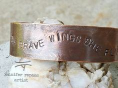 Copper Cuff, Copper Jewelry, Quote Jewelry, Copper Bracelet, Hand stamped, Personalized, Custom Jewelry by JenniferRepassArt on Etsy