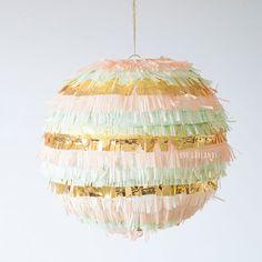 Pinata Fringe Lantern, Wedding Lantern, Baby Shower Lantern,  Handmade Lantern, Nursery Lantern, Whimsy Wedding Decor, Whimsical Decor