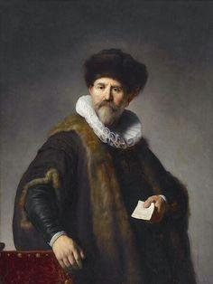 Rembrandt Ritratto del mercante di Amsterdam Nicholaas Ruts. 1631. Olio su tavola di mogano. 116.8x87.8.