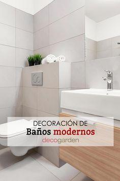 ¡Te enseñamos un montón de ejemplos de decoraciones de baños modernos: Muebles, iluminación, suelos, paredes... ¡No te lo pierdas! Alcove, Bathtub, Bathroom, Ideas, Decorating Bathrooms, Bathroom Furniture, Decorations, Showers, Bathroom Sinks