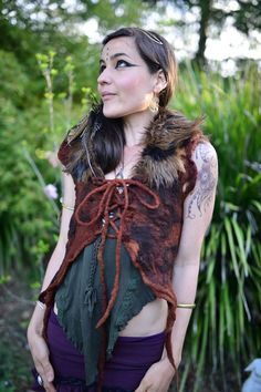 Felt Melted Shaman Dryad Princess Of The Wolves Fur by frixiegirl