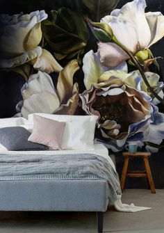 sweet home - Deco Garden-Design Flower Wallpaper, Pattern Wallpaper, Home Bedroom, Bedroom Decor, Bedroom Sets, Master Bedroom, Home Design, Interior Design, Modern Interior
