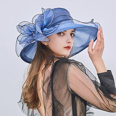 Women's Kentucky Derby Party Holiday Lace Bucket Hat Floppy Hat Straw Hat-Patchwork Ruffle All Seasons Fuchsia Wine Light Brown 2019 - € Chapeaux Pour Kentucky Derby, Kentucky Derby Hats, Best Caps, Tea Party Hats, Sun Hats For Women, Wedding Hats, Party Wedding, Wedding Church, Dress Wedding