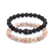 Crown His and Hers Lovers Distance Bracelets - New Version