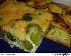Zapékaná růžičková kapusta 20 Min, Cheesesteak, Tofu, Sprouts, Quiche, Food And Drink, Vegetarian, Healthy Recipes, Meat