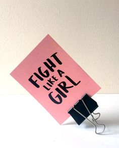 4x6 Fight Like a Girl Protest Postcard by krenstudio on Etsy