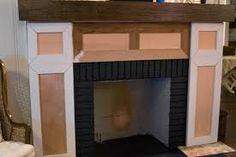 covering up an old fireplace with mdf - Google Search