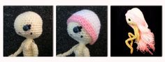 Amigurumi Dolls Hair Tutorial - Wig Cap (you can change the hair every time USE FOR CRAYON POP) -  Tutorial here:  http://reginaignis.blogspot.nl/2014/11/charita-dolls-wig-cap-free-pattern.html