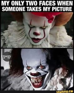 horror movie My only two faces when someone takes my picture via talkhorror Scary Movie Memes, Horror Movies Funny, Horror Movie Characters, Scary Movies, Horror Movie Quotes, Horror Pics, Really Funny Memes, Stupid Funny Memes, Funny Relatable Memes