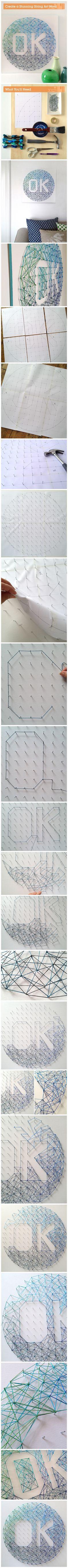 How to #Diy Statemnt #String #Art