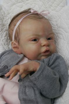 """ANGEL BABY"" reborn doll Esmée Laura lee Eagles SOLD OUT"
