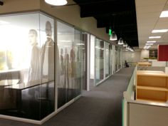 DIRTT glass walls with the sweetest graphics