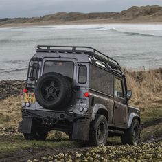Time for a dip! #LandRoverDefender #DefenderRedefined #Lifestyle #Handcrafted #TwistedDefender #Defender #Defender90 #4x4 #AntiOrdinary #DefenderRedefined #Style #Handcrafted #Customised #Scotland #Automotive #Details Image @gfwilliams