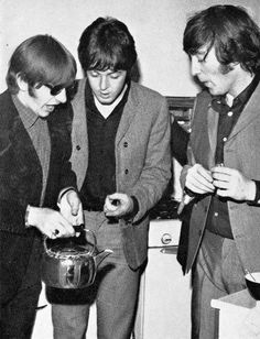 Ringo Paul and John discussing the importance of Tea. Someone is impaired in a Modern Way...