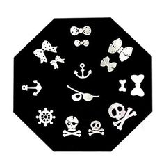 Born Pretty Cute Halloween Bowknot Skull Anchor Nail Art Stamp Template  QA5 ** For more information, visit image link. Note:It is Affiliate Link to Amazon.