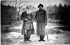 León Tolstói y Maximo Gorki en 1900