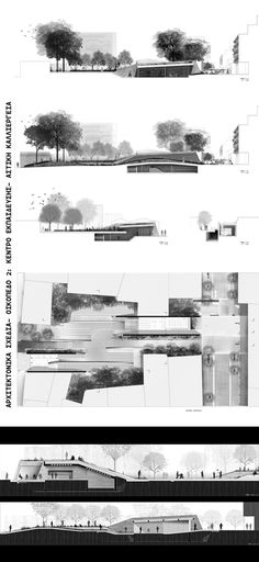 Black and white Architecture Panel, Architecture Graphics, Architecture Student, Architecture Drawings, Architecture Portfolio, Landscape Architecture, Landscape Design, Architecture Design, Architecture Diagrams