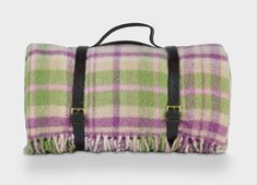 Plum and Green Check