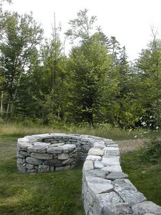 stone seating wall