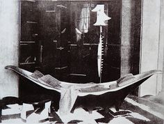 Pyrogue daybed for rue de Lota Eileen Gray, Fair Day, International Style, Monochrom, Daybed, Rue, Paris, Painting, Html