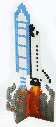 Space shuttle hama beads - Kreativ Hobby
