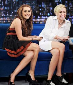 Miley  is chain  a lot hair tonge act and a lot more. miley was on hannah montana. look at me a crazy girl. i dont need a see to chain this is my opinen what you i want to know what you think. how can she chaged.she is just crazy if you like her now.tell me why you do.