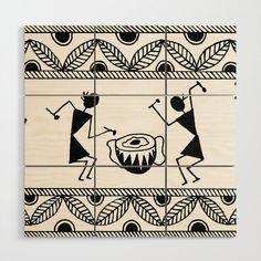 Warli Art Wooden Wall Art by Designsbygulmohars - X Worli Painting, Mandala Design Art, Fabric Painting, Pottery Painting Designs, Doodle Art Drawing, Madhubani Painting, Tribal Art Drawings, Tribal Art Designs, Art Painting Gallery