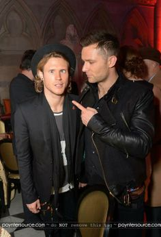 Boogie night's: McFly's Dougie Poynter and Harry Judd seemed to be having fun as they posed inside the bash Tom Fletcher, Dougie Poynter, Boogie Nights, Catching Fire, The Vamps, Green Day, Fall Out Boy, How To Run Longer, Cute Guys