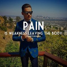 regram @ambition.mafia Pain is Weakness Leaving The Body   Embrace the Pain. Pain is Weakness Leaving Your Body. Whether it be Emotional Physicsl or Mental. This is Why Challenging Yourself Daily is important. It causes You to Grow and become Stronger... See You At The Top  . . .TAG A FRIEND FOR FUN  . . #Millionaire #motivation #inspiration #success #money #entrepreneur #Exotic #suit #photography #photographer #photo #rich #wealth #gentleman #rolex #watch #gentlemen #classy #confident…