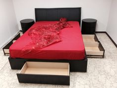 Our bestselling storage bed is now available with a padded PU-leather headboard - great storage, great comfort! 5 Drawer Storage, Bed Parts, Leather Headboard, Pu Leather, Beds, Furniture, Home Decor, Decoration Home, Room Decor