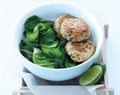 • Fish Cakes and Cucumber Salad • #thai #fishcakes #cucumber #salad #main #donnahay
