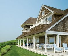 Bohemian by the Sea -  rear elevation facing the sea on Long Island -  Architecture by Francis Fleetwood, AIA - Architectural Digest
