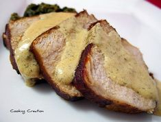 Cooking Creation: Roasted Pork Tenderloin with Dijon-Dill Cream Sauce