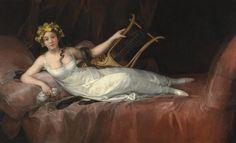 [フリー絵画素材] フランシスコ・デ・ゴヤ - サンタ・クルス侯爵夫人 (1805) ID:201303291600