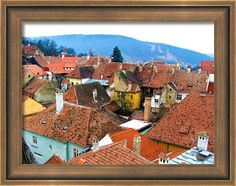 #Transylvania Rooftops #Framed #Print By Judi Saunders. Many choices of frames with or without mats.