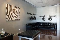 Salon Galleries - Von Anthony Salon Home Hair Salons, Hair Salon Interior, Natural Hair Salons, Salon Interior Design, Salon Dryers, Salon Hair Dryer, Beauty Bar Salon, Beauty Salon Design, Salon Stations
