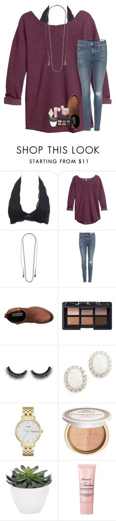 """""""job shadowing day"""" by lindsaygreys ❤ liked on Polyvore featuring Charlotte Russe, H&M, Chan Luu, rag & bone, Steve Madden, NARS Cosmetics, Kenneth Jay Lane, Kate Spade, Too Faced Cosmetics and Torre & Tagus"""