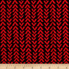 Triangle Stripes Rayon Challis Black/Coral from @fabricdotcom  This rayon fabric has a beautiful fluid drape and soft hand. It is perfect for creating shirts, blouses, gathered skirts and flowing dresses with a lining. Colors include orange-coral and black.