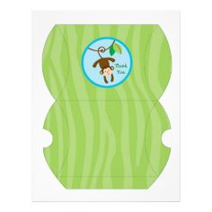 Rainforest Jungle Animal Gift Box Favor Box Personalized Flyer