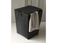 Our black Strapping Laundry #Basket with Lid and Handles is a great way to keep your laundry room looking smart and tidy. The advantage with this laundry basket is that it is suitable for both wet and dry washing. Its handles make it easy to carry if your #laundry #storage is not with your #washing machine and the lid keeps your laundry neatly concealed. #Home