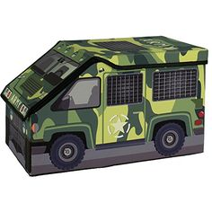 US Military Army Corps Decor Bin to Store Soldier Toys or Navy Surplus Gear for Kids, Boys, Men and Veterans - Green Camouflage Edition *** Want to know more, click on the image.