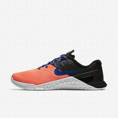 Women's Training Shoes 849807-600 Nike Metcon 3 Lava Glow/Black/White/Paramount Blue