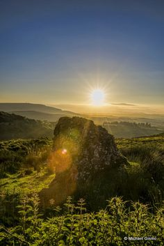 Summer solstice standing stone, Carrowkeel, Co. Sligo, Ireland. Great capture by Michael Gismo