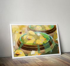 Duck, Duck, Bath // Studio Ghibli and Spirited Away Inspired Low Poly Illustration // Vector Art and Etsy Geek Print by TheGeekerie on Etsy